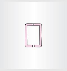 Tablet clip art icon vector