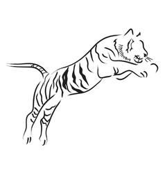 Tiger jump vector