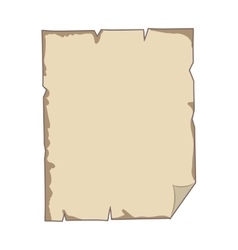Torn parchment with folded sheet edge vector