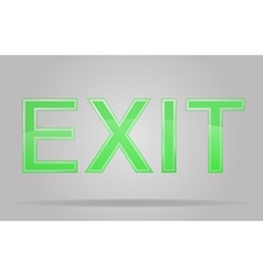 transparent sign exit 01 vector image