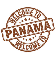 Welcome to panama vector