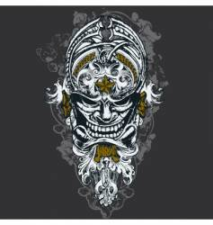 wicked mask illustration vector image vector image