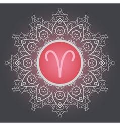 Zodiac sign the ram aries vector