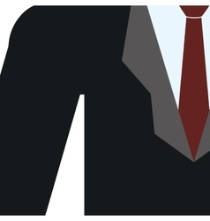 Necktie suit businessman cloth male man icon vector