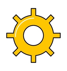 Gears machine work icon vector