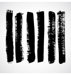 A set of grunge strokes vector
