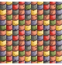 colored old Roof Tiles Seamless Background vector image