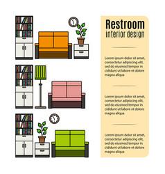 Furniture for restroom infographic vector
