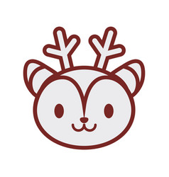cute deer face image vector image