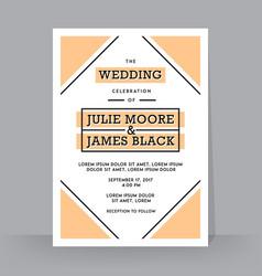 Retro wedding invitation template tradition vector