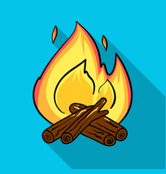 Campfire icon in flat style isolated on white vector