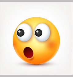 Smileysad emoticon yellow face with emotions vector