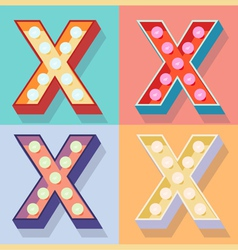 Letter x vector