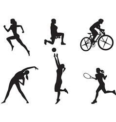 Women in different kinds of sport vector