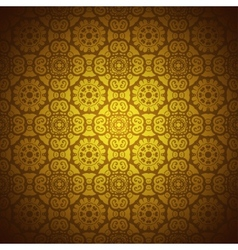 Lace pattern background with indian ornament vector