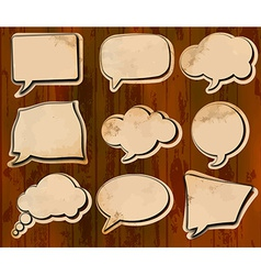 Aged speech bubbles vector