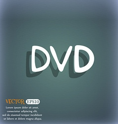 Dvd icon symbol on the blue-green abstract vector