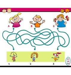 Maze puzzle task for kids vector