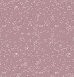 Seamless floral pattern with with hand-drawn vector