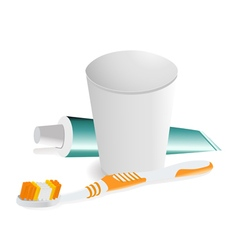 Dental hygiene objects vector