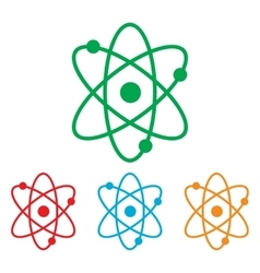 Atom sign colorfull set vector