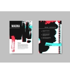 Set of artistic design templates flyers with vector