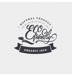 Eco friendly bio vegan -poster stamp badge vector
