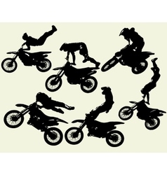 Moto freestyle set vector