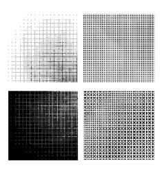 Set of Dotted Textures vector image