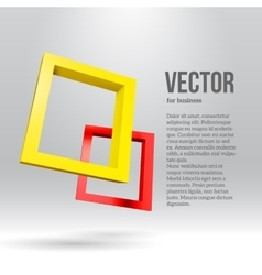 Two colorful rectangular 3d frames vector