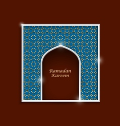 Ramadan kareem greeting card template variation 5 vector