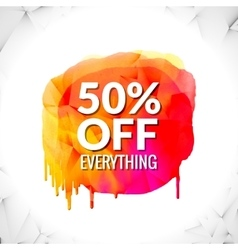 Sale word on watercolor spot splash vector