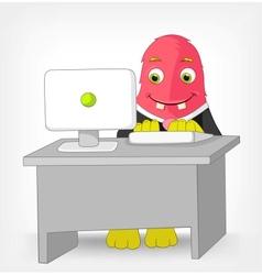 Funny monster clerk vector