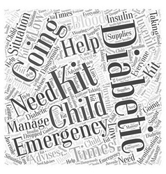 A juvenile diabetics emergency kit word cloud vector