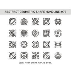 Abstract geometric shape monoline 73 vector