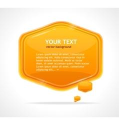 Abstract speech bubble orange vector image