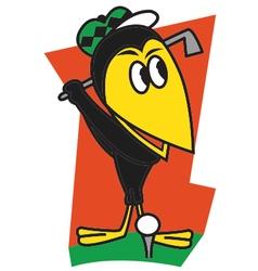 Bird golf vector