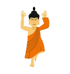 Buddha meditating isolated Indian god on white vector image