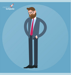businessman looking for something in his pockets vector image vector image