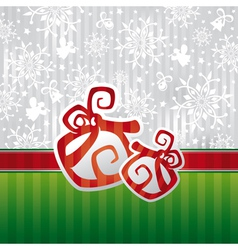 christmas card with abstract gifts vector image vector image