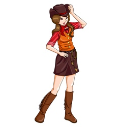 Cowgirl vector