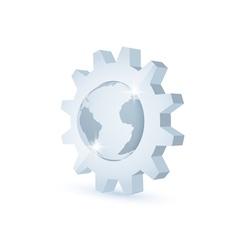 earth gear vector image vector image