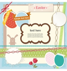 Easter scrapbook set vector image vector image