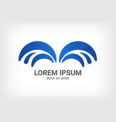 Fountain blue logo design template vector