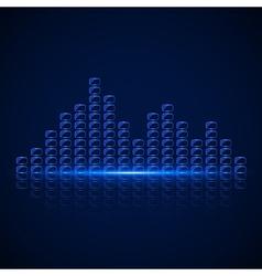 Glass Equalizer vector image