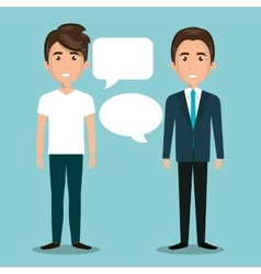 men talking dialogue isolated vector image