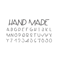 Naive sloppy handwriting decorative flashy vector image