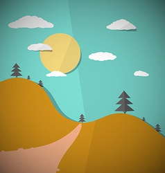 Paper Nature Flat Design vector image