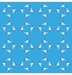 Seamless background with seagulls vector image