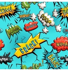 Seamless pattern of comic speech bubble vector